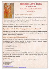 Rekolekcje Lectio Divina (Bolesławiec Śl.) @ Adoratorki Krwi Chrystusa | Bolesławiec | Województwo dolnośląskie | Polska