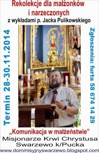 Rekolekcje dla małżeństw i narzeczonych z Panem Jackiem Pulikowskim i Jego Żoną Jadwigą @ Dom św. Józefa | Swarzewo | pomorskie | Polska