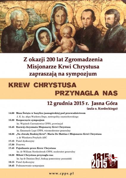 sympozjum 2015 misjonarze Krwi Chrystusa